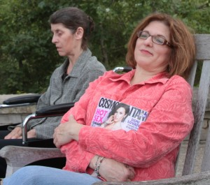 """Mary Franceschi and Becky Freligh in Redbud Productions """"Assisted Living"""""""